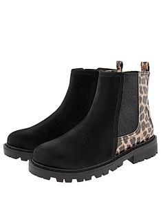 monsoon-girls-natasha-animal-chelsea-boot-black