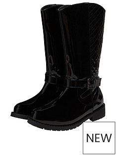 monsoon-girls-bernadette-buckle-riding-boots-black