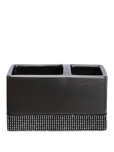 lloyd-pascal-sparkle-toothbrush-tidy-in-black