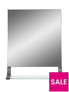 lloyd-pascal-sparkle-square-mirror-with-shelf-ndash-black