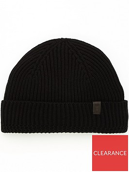 allsaints-mens-merino-wool-ribbed-beanie-black
