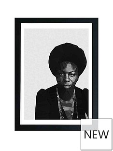 east-end-prints-nina-simone-by-studio-cockatoo-a3-framed-wall-art