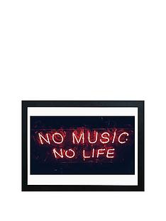 east-end-prints-no-music-no-life-a2-framed-wall-art