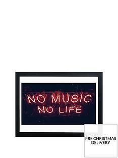 east-end-prints-no-music-no-life-a2-framed-wall-art