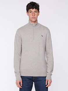 ps-paul-smith-zebra-logo-14-zip-knitted-jumper--nbspgrey