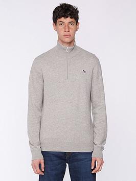 ps-paul-smith-zebra-logo-14-zip-knitted-jumper--nbspgrey
