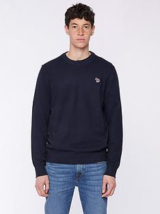 ps-paul-smith-zebra-logonbspknitted-jumper--nbspnavy