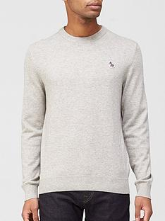 ps-paul-smith-zebra-logonbspknitted-jumper-grey
