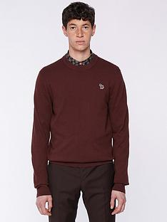 ps-paul-smith-zebra-logonbspknitted-jumper-burgundynbsp
