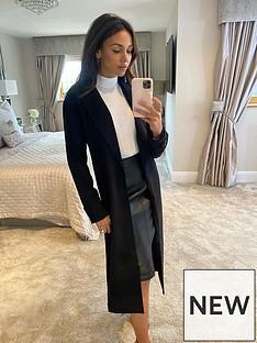michelle-keegan-longline-blazer-coat-black