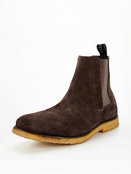 Allsaints Men'S Rhett Suede Chelsea Boots - Brown