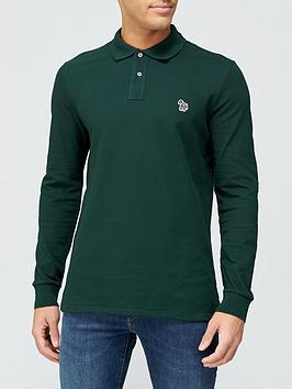 ps-paul-smith-zebra-logo-long-sleeve-pique-polo-shirt-green