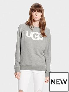 ugg-fuzzy-logo-crew-necknbspsweatshirt-grey-heather