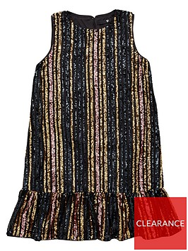 v-by-very-girls-stripe-sequin-drop-hem-dress-multi
