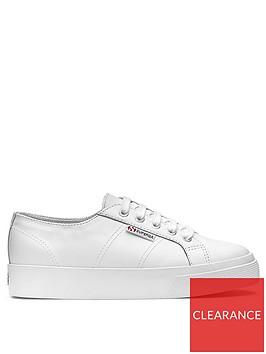 superga-2730-naplngcotu-leather-chunky-sole-plimsoll-white
