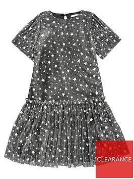 v-by-very-girls-metallic-star-print-dress-black
