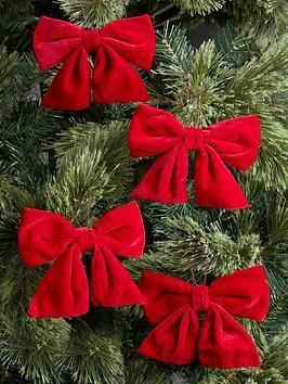 festive-red-velvet-bows-ndash-set-of-4