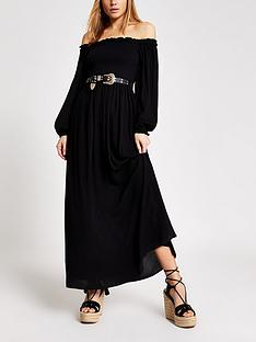 river-island-bardot-maxi-dress-black