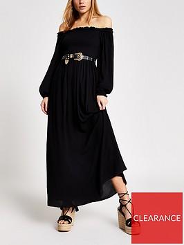 river-island-bardot-maxi-dress-black