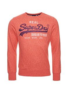 superdry-vintage-label-premium-crew-neck-sweatshirtnbsp-orange