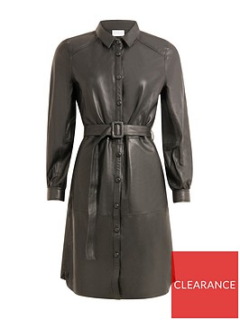 coster-copenhagen-leather-dress-black
