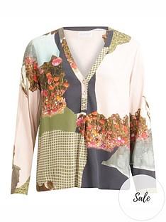 coster-copenhagen-mountain-print-blouse-multi
