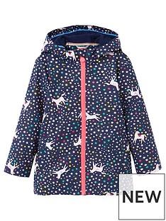 joules-girls-raindance-unicorn-raincoat-navy