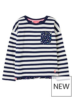joules-girls-bliss-stripe-long-sleeve-top-navy
