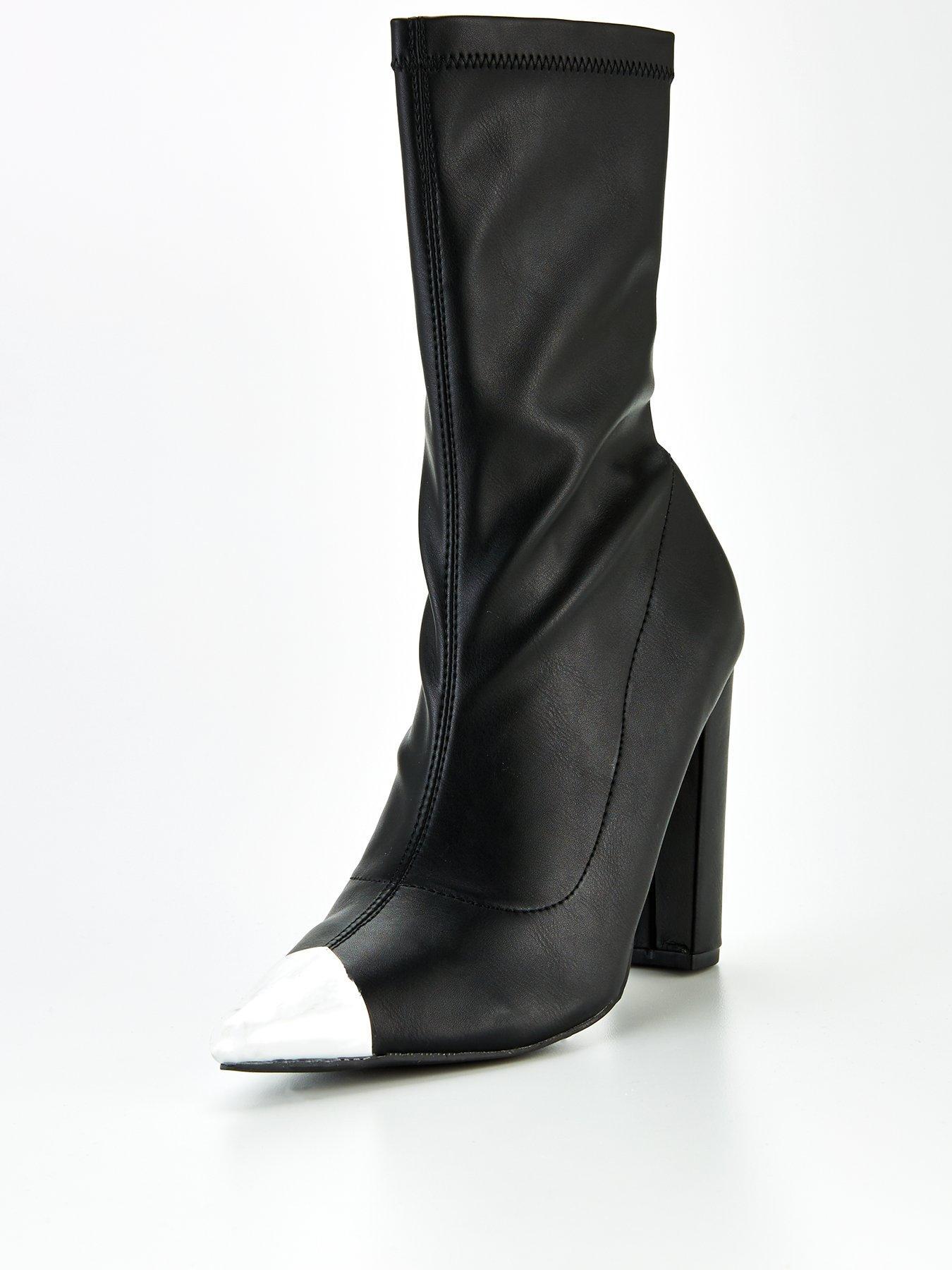 public desire black croc effect platform boots