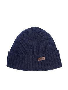 barbour-carlton-ribbed-beanie-navy