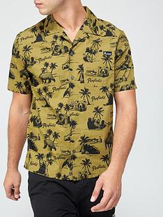 penfield-graphic-print-short-sleeve-shirt-green