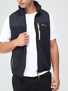 penfield-fleece-vest-black