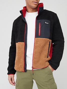 penfield-mattawa-colour-block-fleece-black