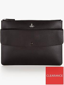 vivienne-westwood-menrsquos-kent-leather-pouch-black