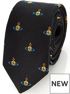 vivienne-westwood-menrsquos-orb-logo-tie-black