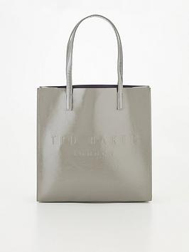 ted-baker-crinkle-patent-embossed-large-icon-grey