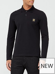 belstaff-chest-logo-long-sleeve-polo-shirt--nbspblack