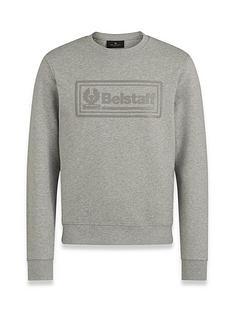 belstaff-oulton-logo-sweatshirt-grey