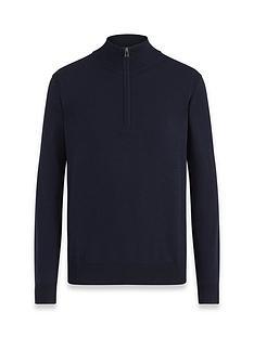 belstaff-bay-arm-patch-logo-knitted-14-zip-jumper-navy