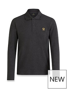 belstaff-chest-logo-long-sleeve-polo-shirt-grey