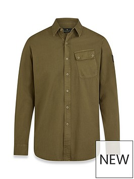 belstaff-pitch-oxford-shirt-olive