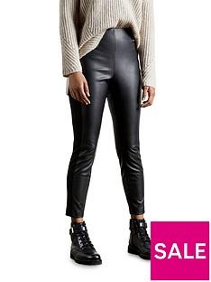 ted-baker-faux-leather-legging-black