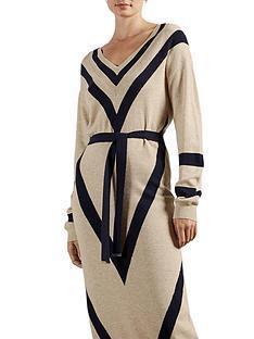 ted-baker-chevron-detail-knitted-midi-dress-naturalnbsp