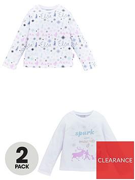 disney-frozen-girlsnbsp2-pack-long-sleeve-t-shirts-white