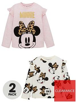 minnie-mouse-girls-disneynbsp2-pack-leopard-long-sleeve-t-shirts-multi