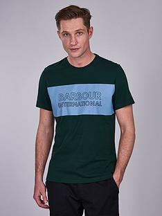 barbour-international-panel-logo-t-shirt-green