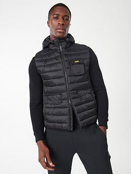 barbour-international-ousten-hooded-gilet-black