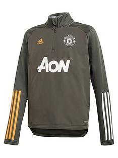 adidas-youth-manchester-united-2021-warm-up-top-green
