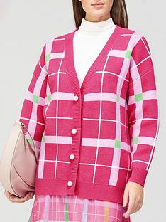 olivia-rubin-cecily-check-pearl-button-cardigan-pink