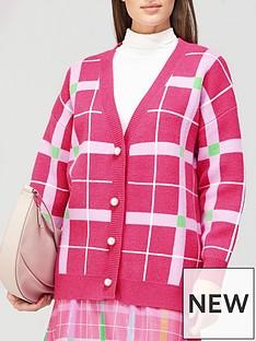olivia-rubin-cecily-check-pearl-button-cardigan-pink